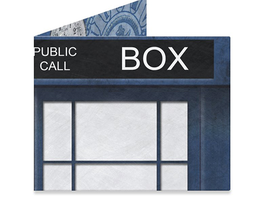 Mighty Wallet Blue Police Box