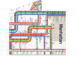 Mighty Wallet Vignelli Subway Map