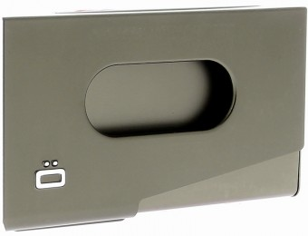 Ogon Porte-Cartes de visite ONE TOUCH Dark Grey